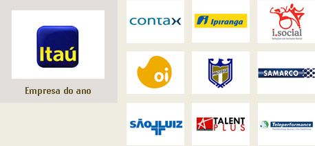 Itaú (empresa do ano), Grupo Protege, Contax, Teleperformance, Samarco, Talent Plus, I.Social, Oi, Hospital São Luiz e Ipiranga